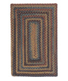 RugStudio presents Colonial Mills Ridgevale RV20 Floral Burst Braided Area Rug